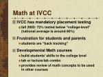 math at ivcc
