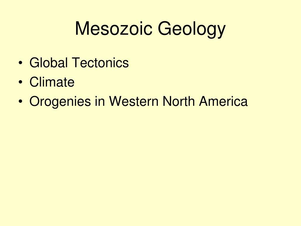Mesozoic Geology