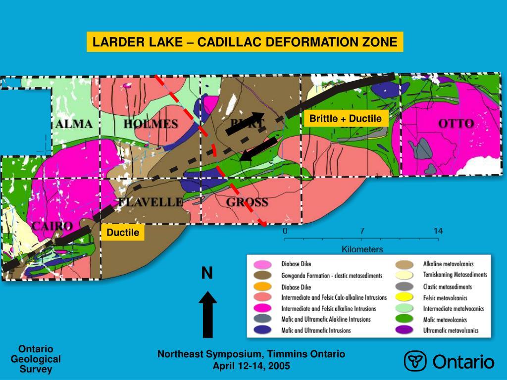 LARDER LAKE – CADILLAC DEFORMATION ZONE