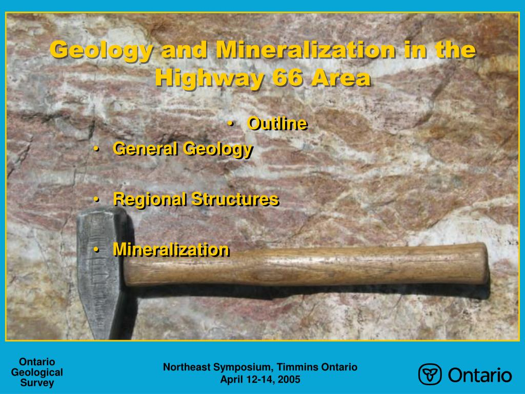Geology and Mineralization in the