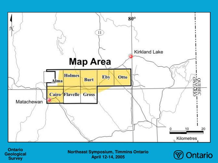Geology and mineralization in the highway 66 area