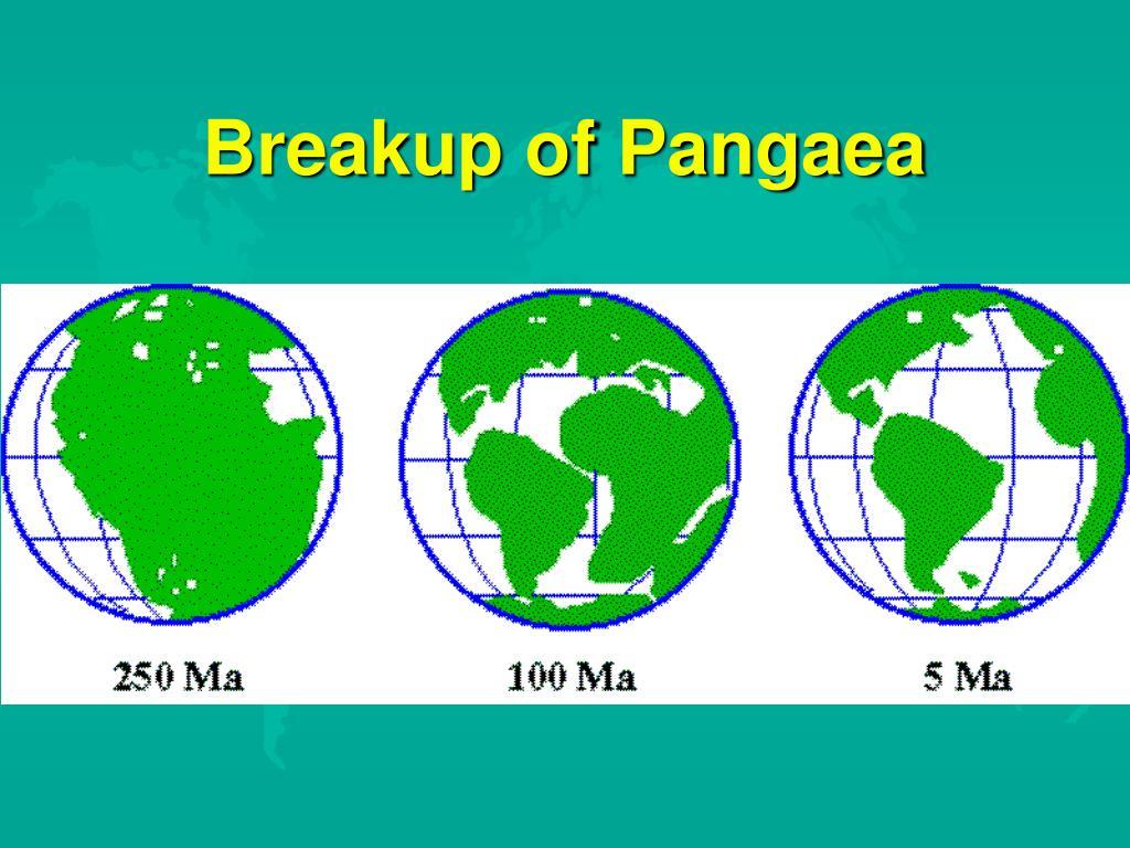 Breakup of Pangaea