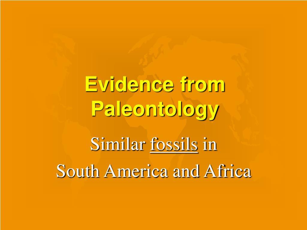 Evidence from Paleontology