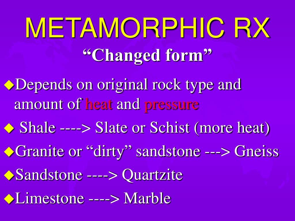 METAMORPHIC RX