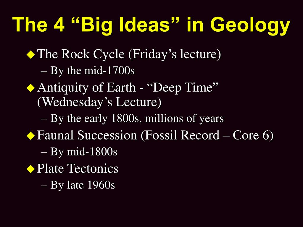"""The 4 """"Big Ideas"""" in Geology"""