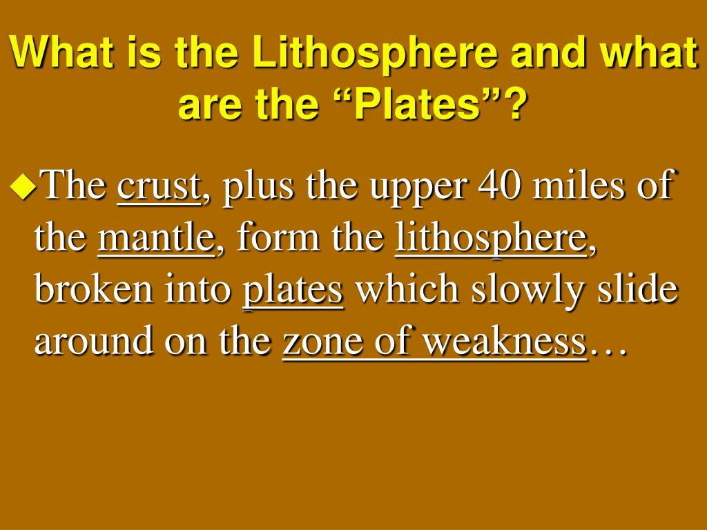 """What is the Lithosphere and what are the """"Plates""""?"""