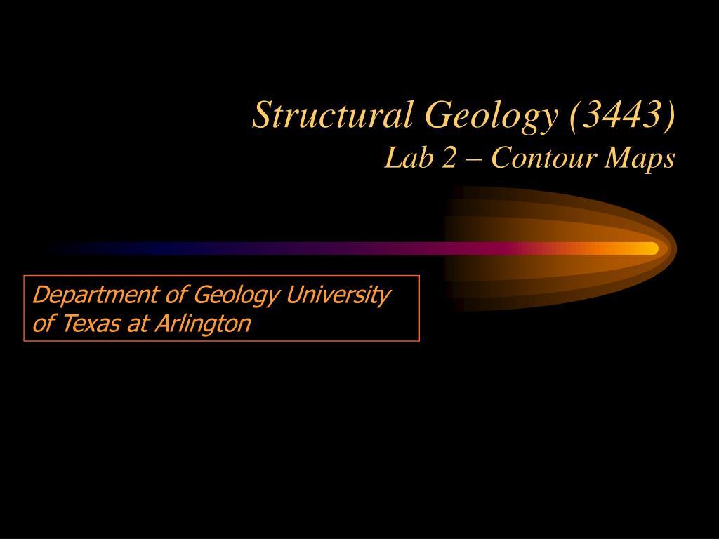structural geology 3443 lab 2 contour maps l.