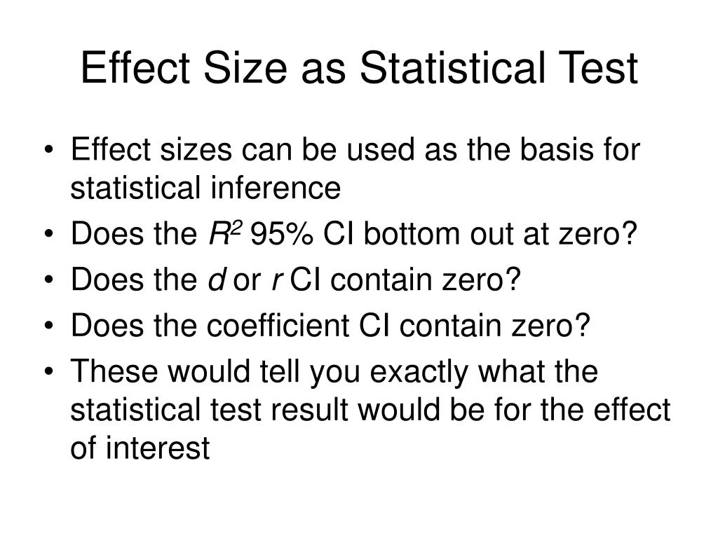 Effect Size as Statistical Test