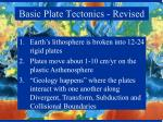 basic plate tectonics revised