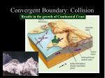 convergent boundary collision