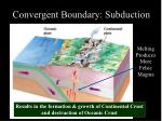 convergent boundary subduction