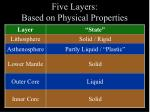 five layers based on physical properties