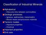 classification of industrial minerals41