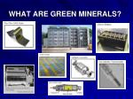 what are green minerals35