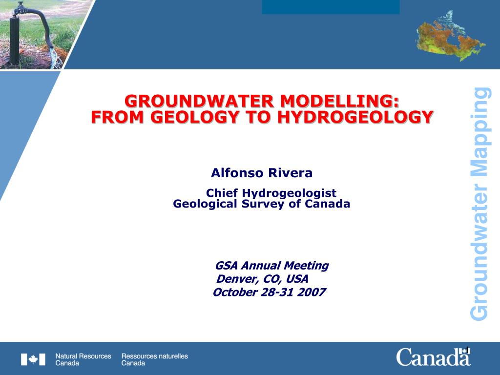 GROUNDWATER MODELLING: