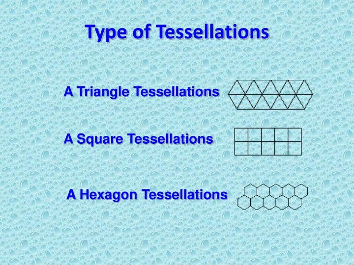 Type of tessellations