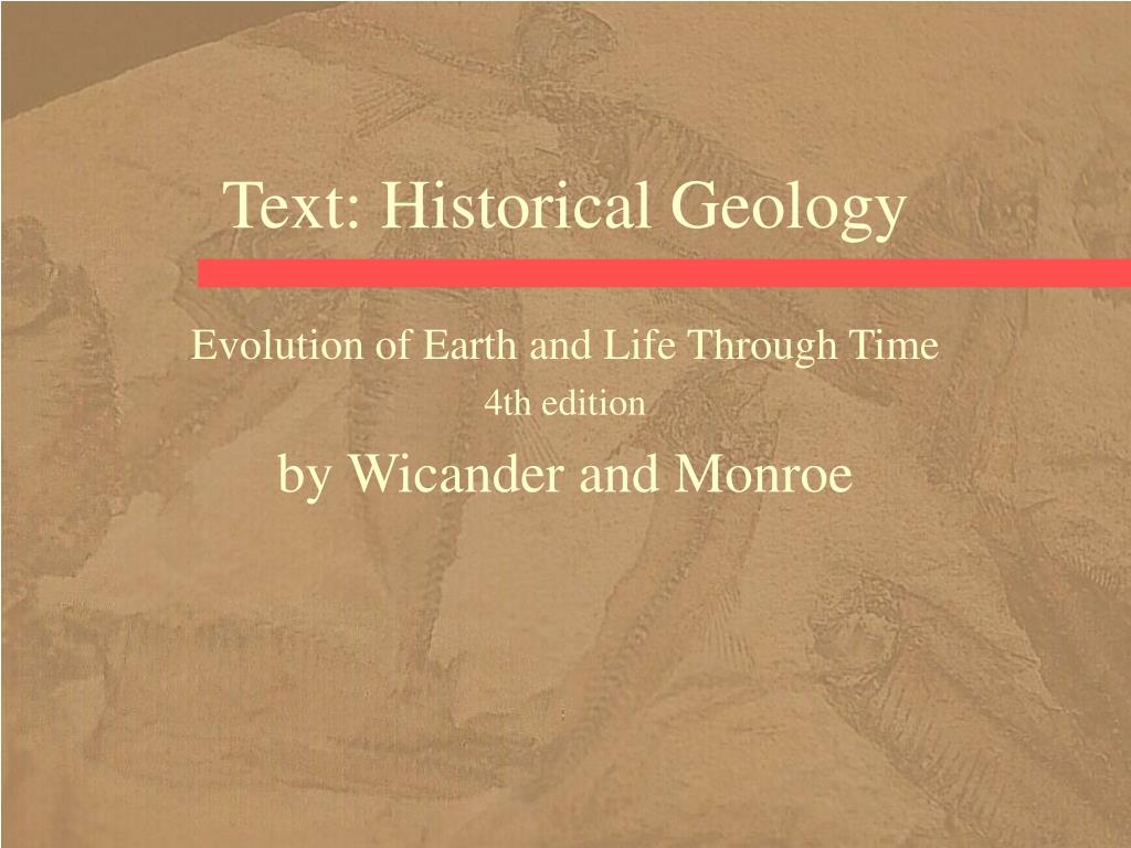 text historical geology l.