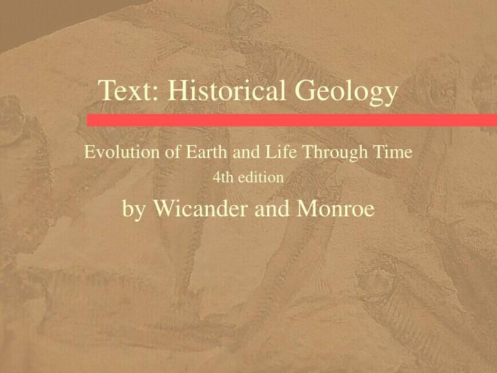 Text historical geology
