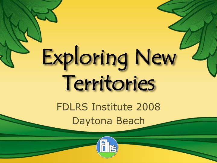 exploring new territories n.