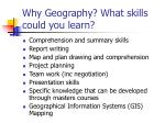 why geography what skills could you learn