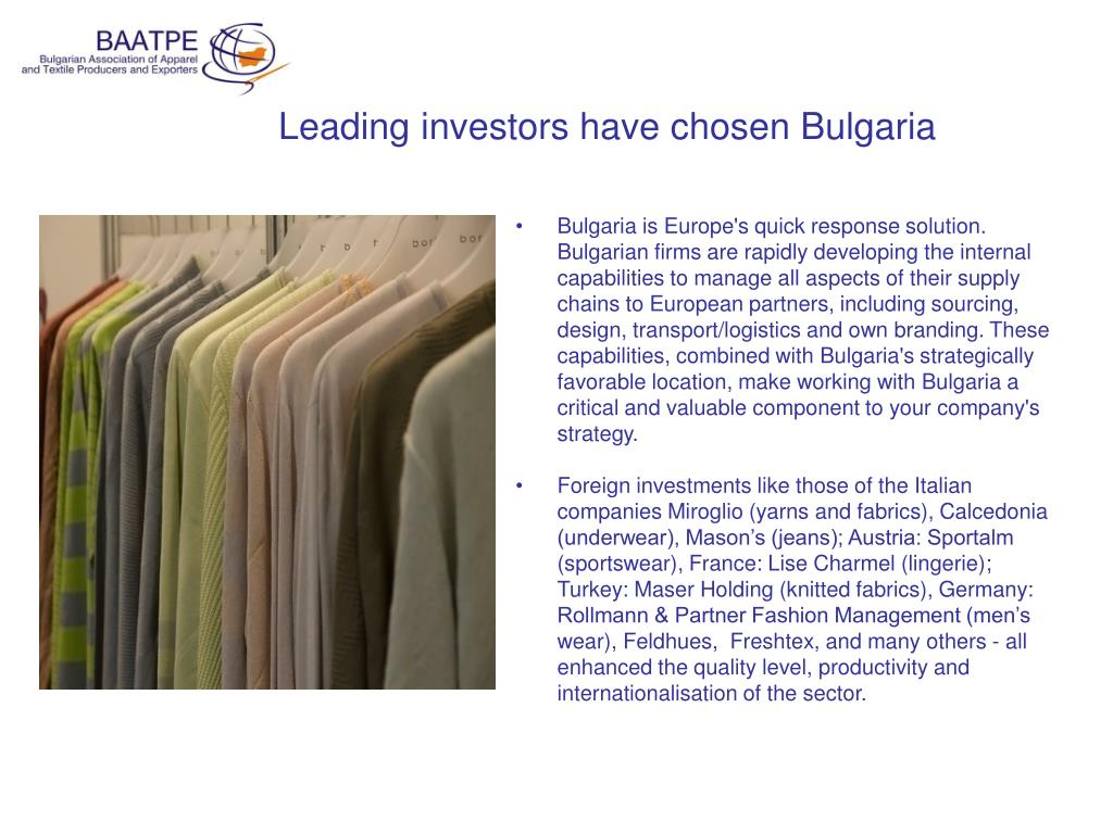 PPT - Bulgaria: the best opportunities and advantages in