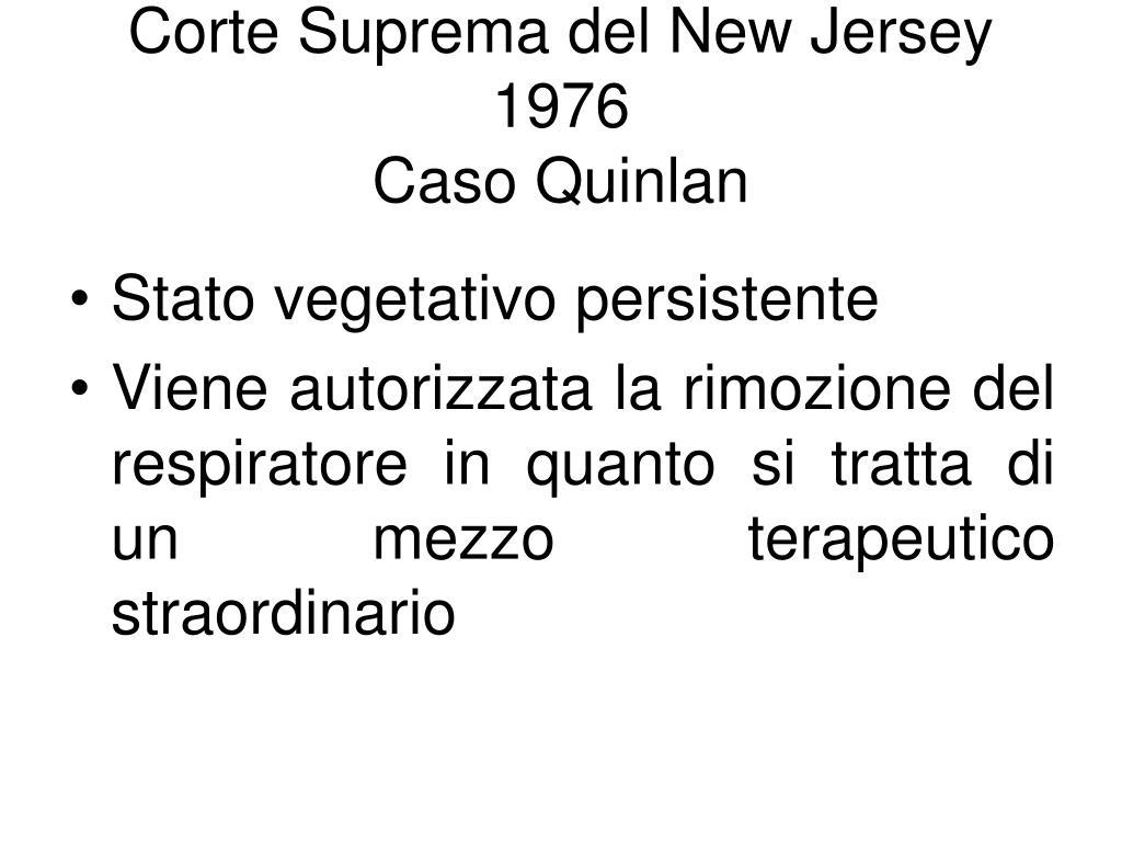 corte suprema del new jersey 1976 caso quinlan l.