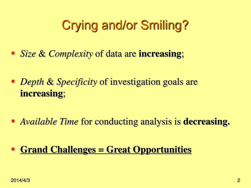 Crying and/or Smiling?