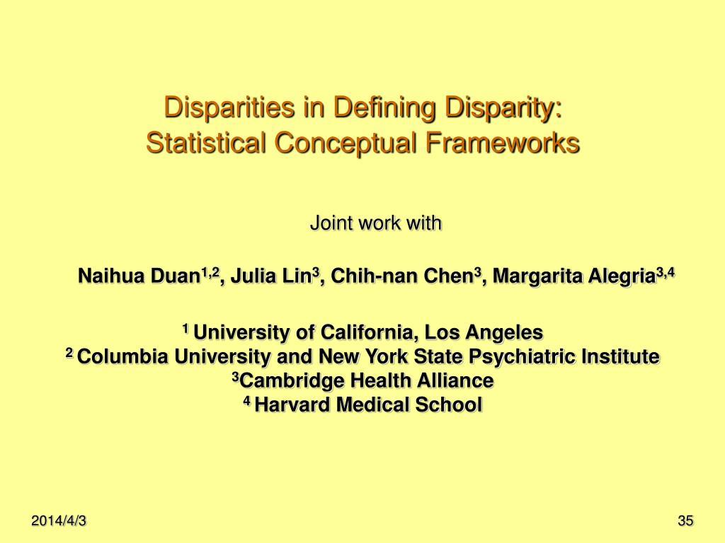 Disparities in Defining Disparity: