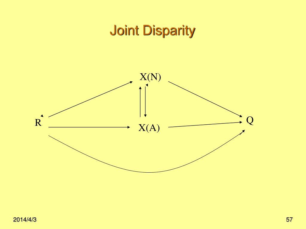 Joint Disparity