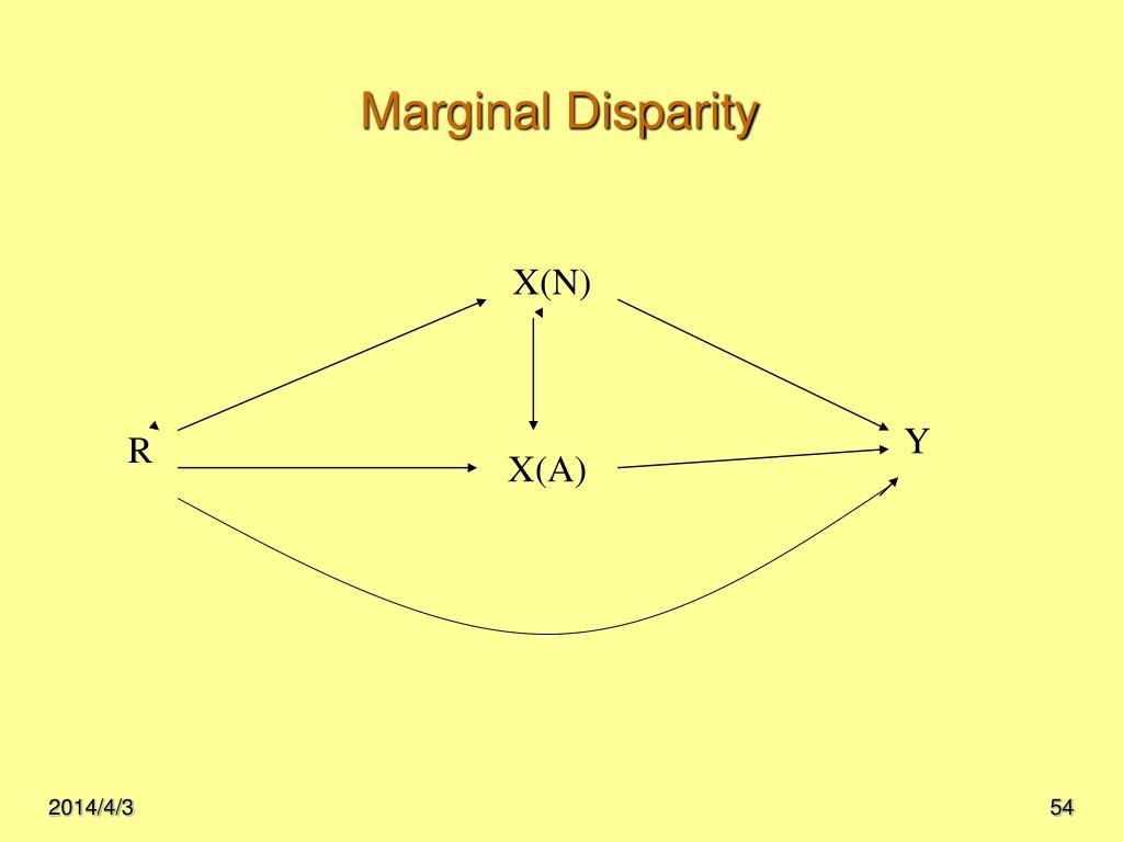 Marginal Disparity
