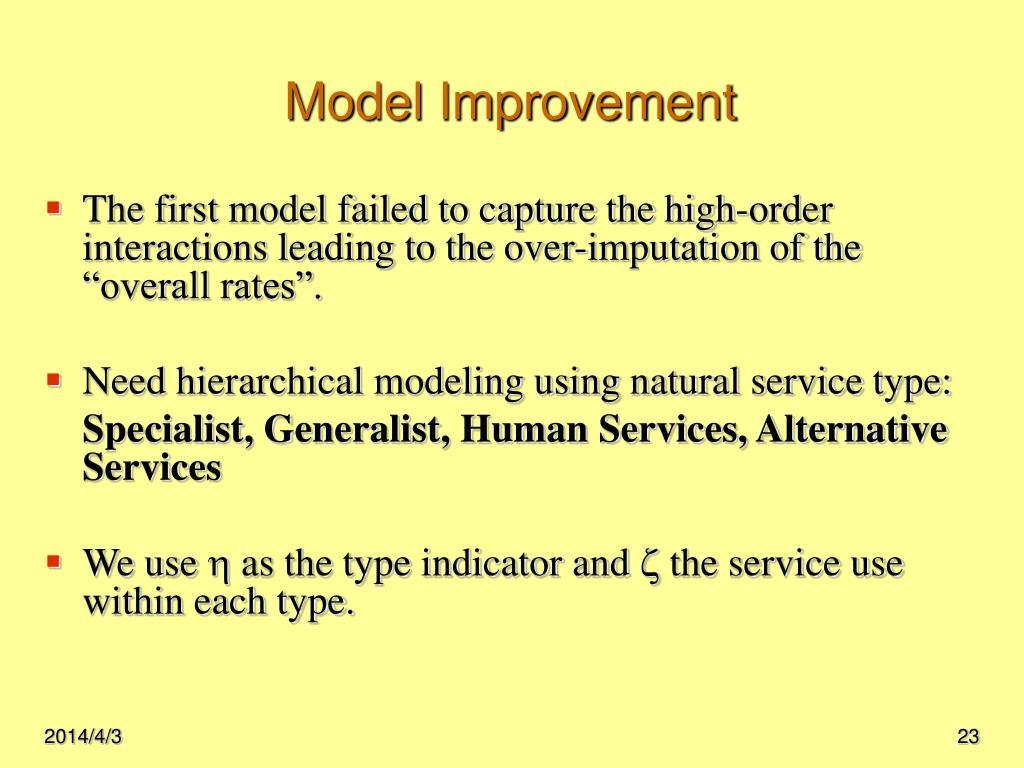 Model Improvement