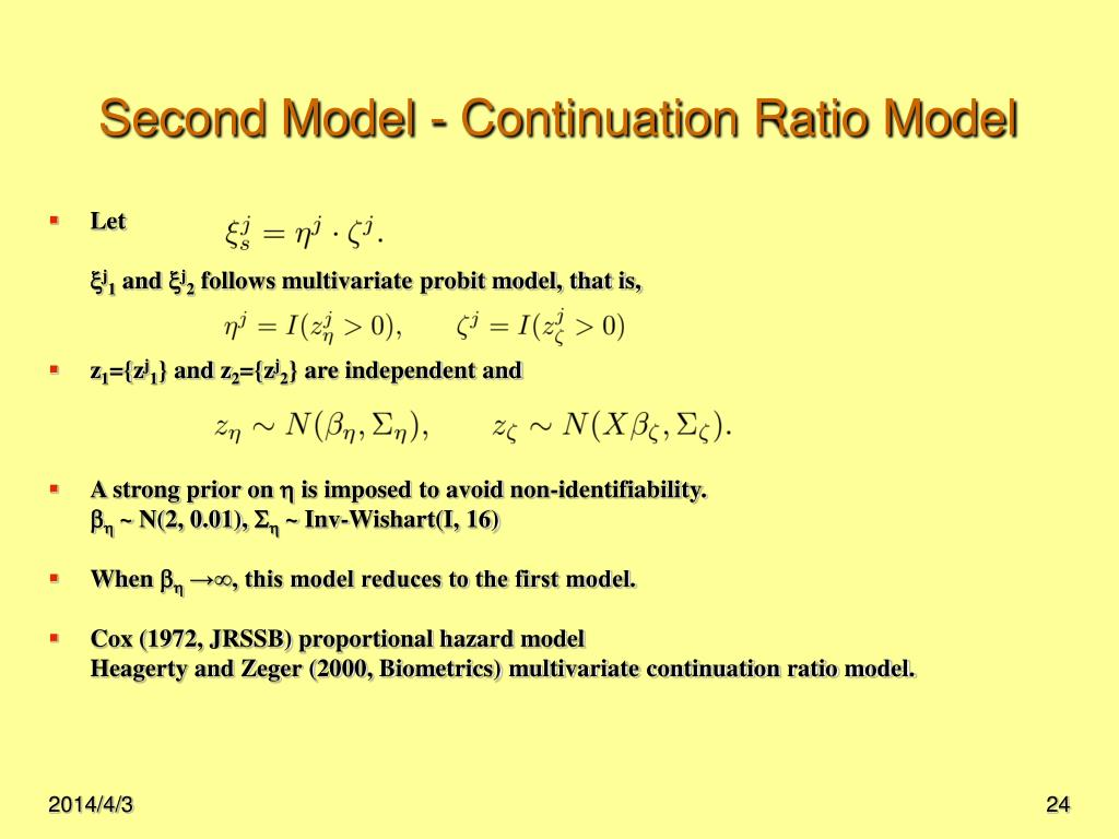 Second Model - Continuation Ratio Model