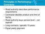 principles in performance contracts