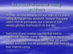 examples of internet voting problems