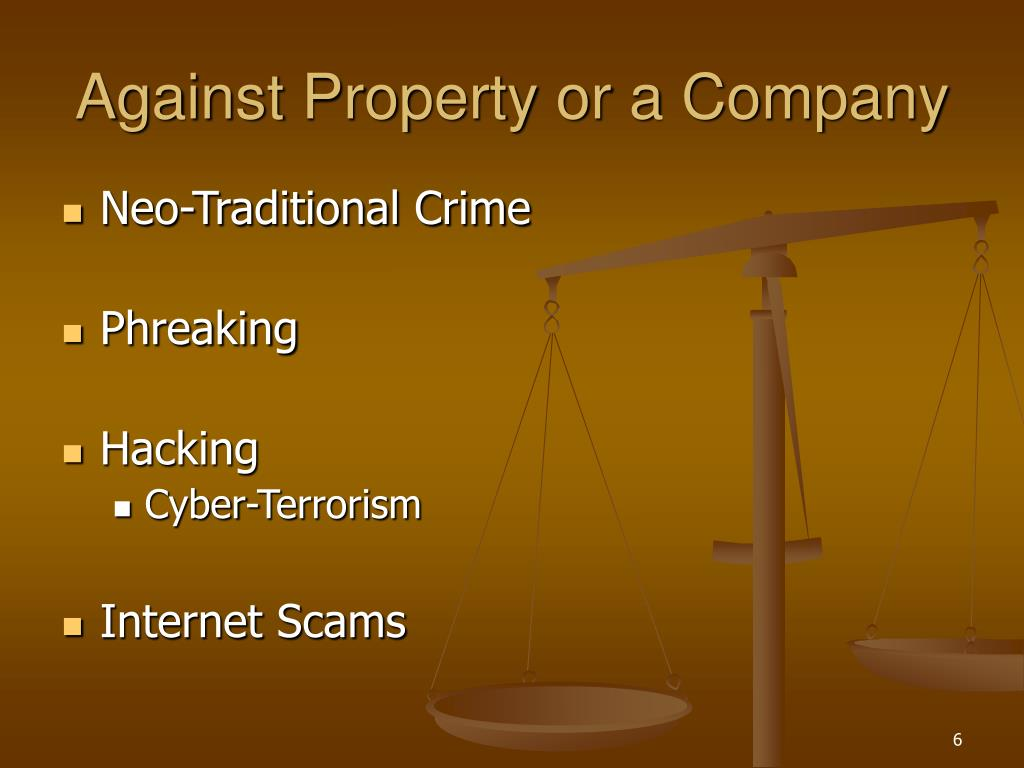 Against Property or a Company