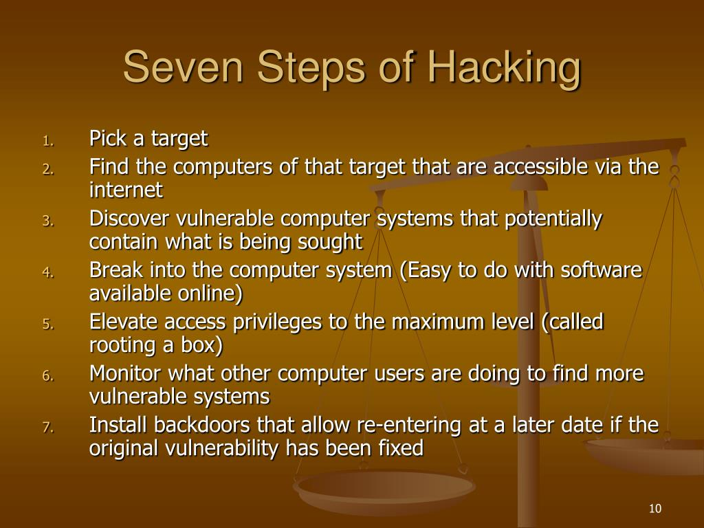 Seven Steps of Hacking
