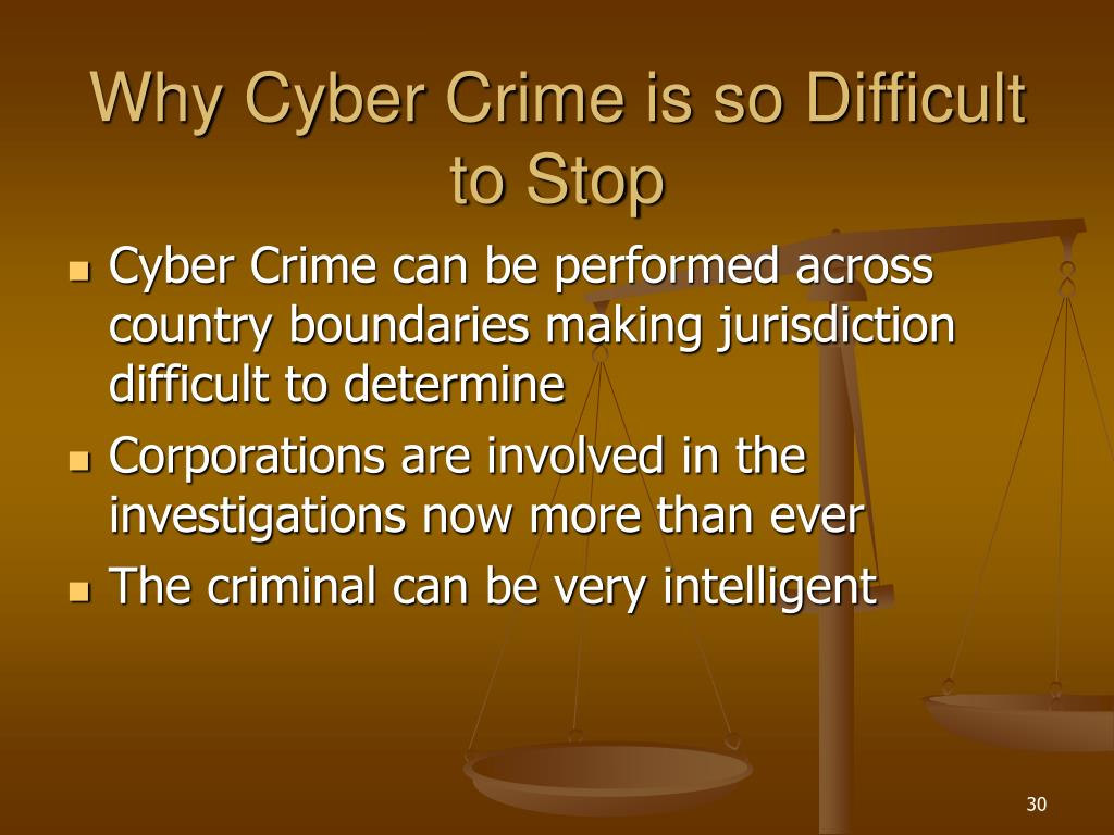 Why Cyber Crime is so Difficult to Stop