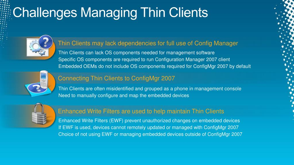 PPT - Thin Clients, from Building to Deployment and