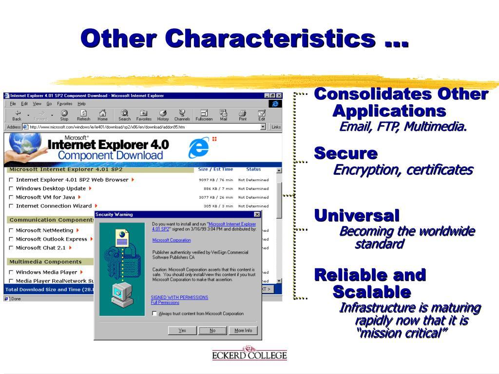 Other Characteristics ...