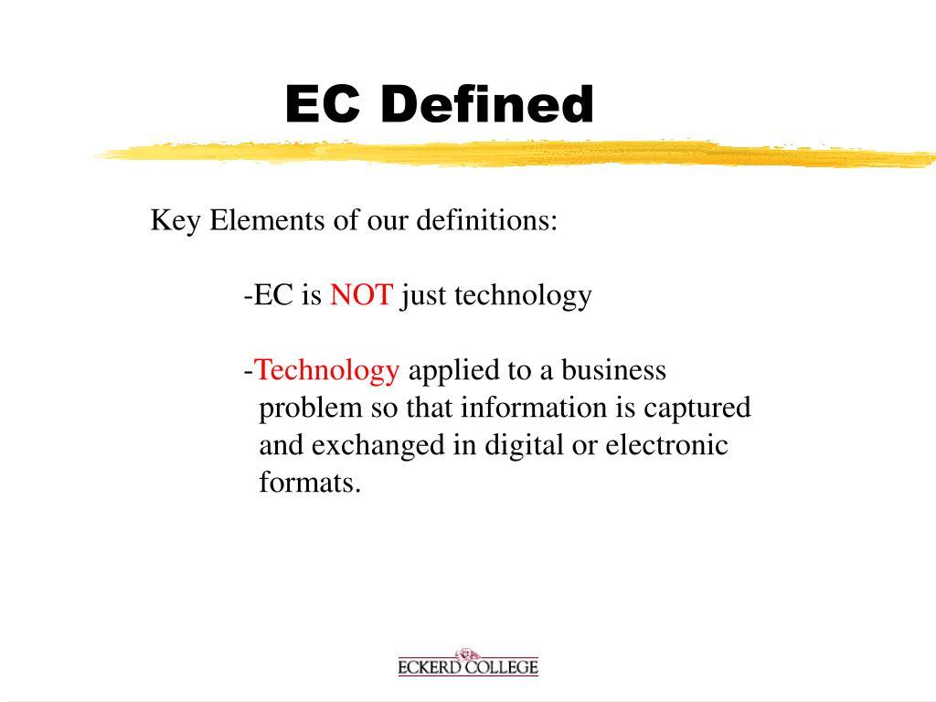 EC Defined