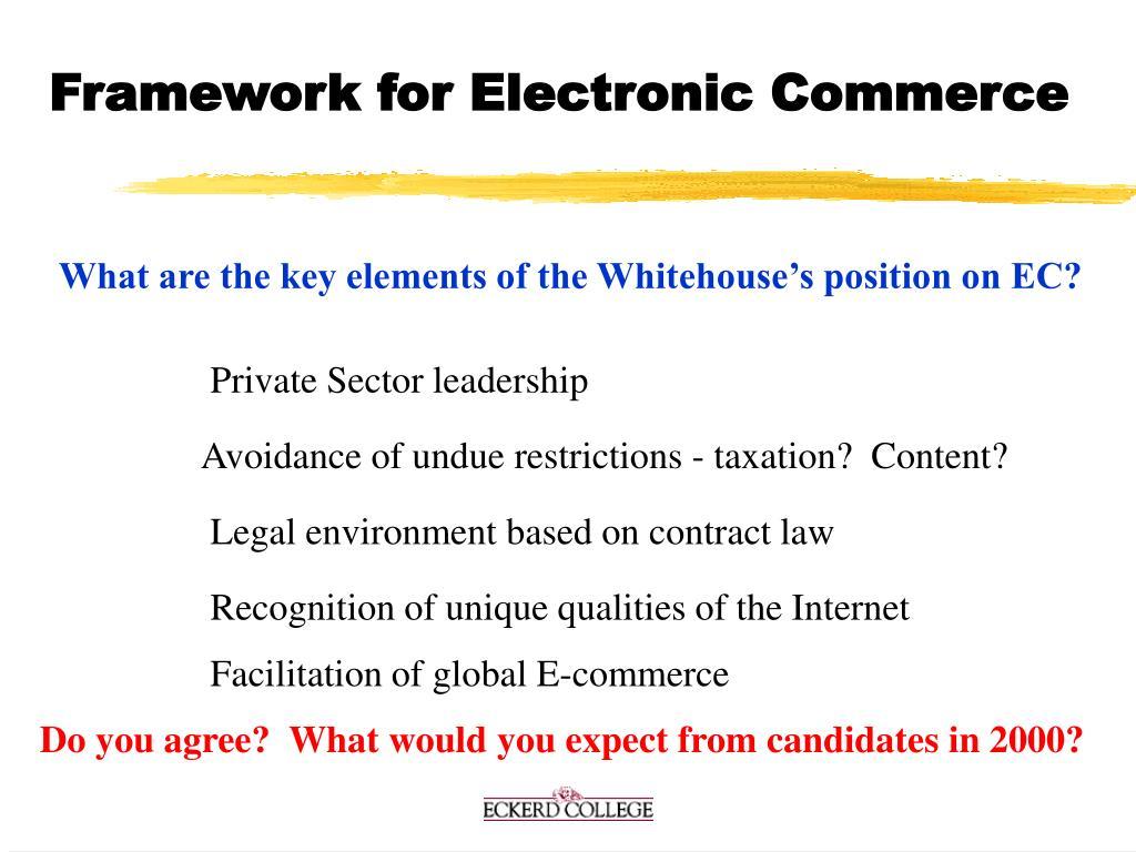 Framework for Electronic Commerce