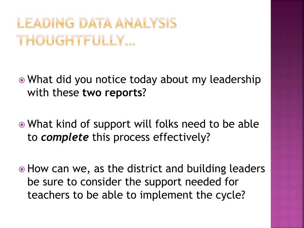 Leading Data Analysis thoughtfully…