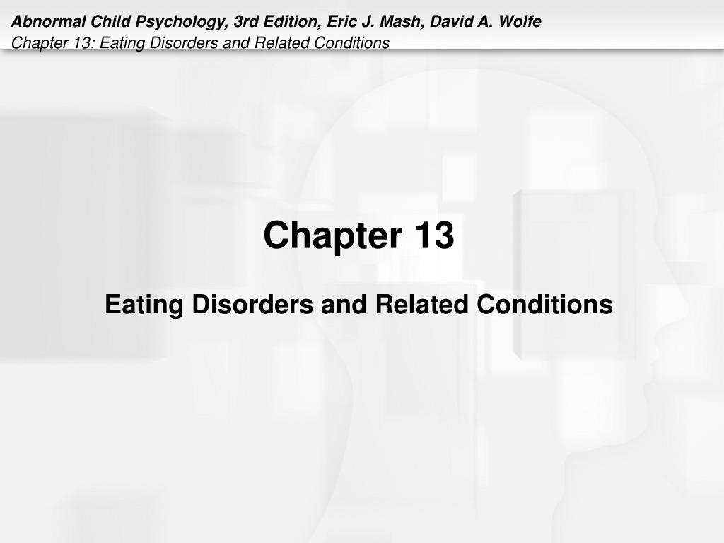 chapter 13 eating disorders and related conditions l.