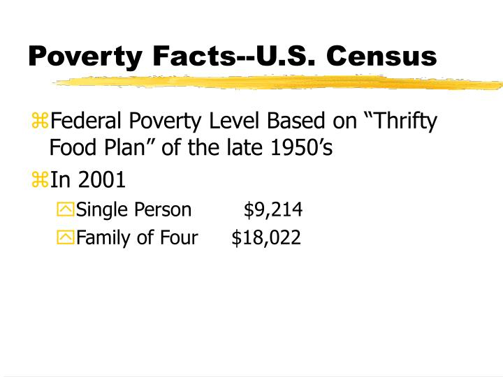 Poverty facts u s census