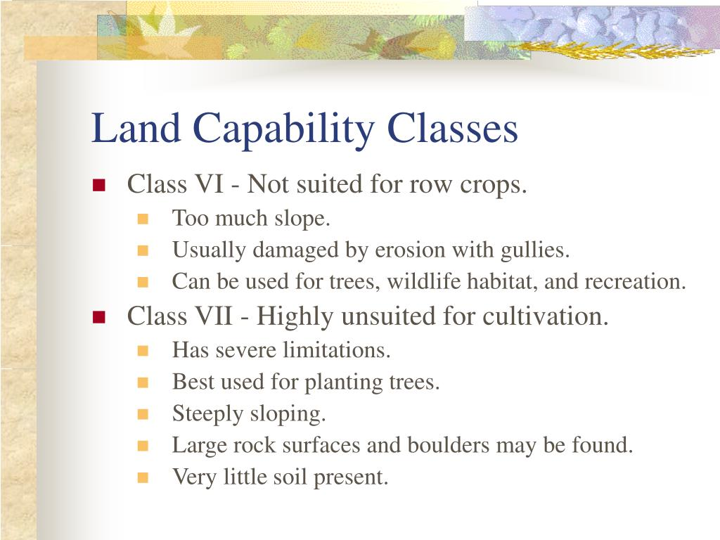 Land Capability Classes