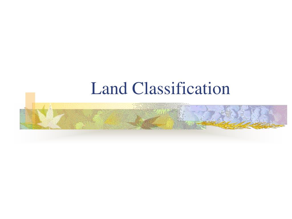 Land Classification