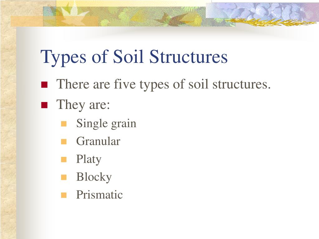 Types of Soil Structures