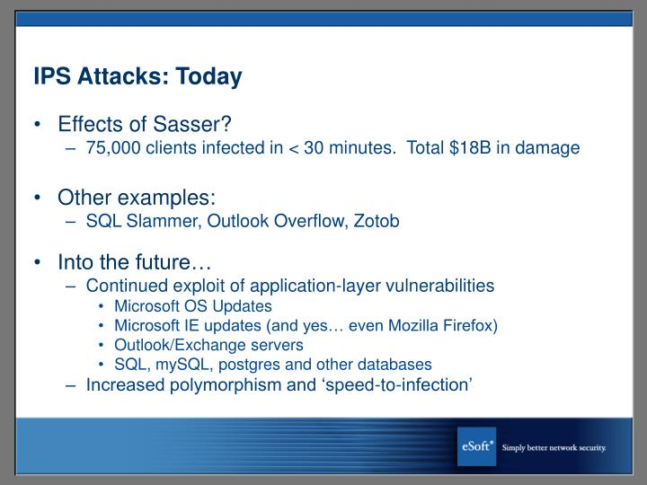 IPS Attacks: Today