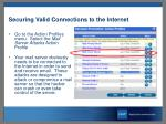 securing valid connections to the internet