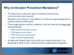 why is intrusion prevention mandatory